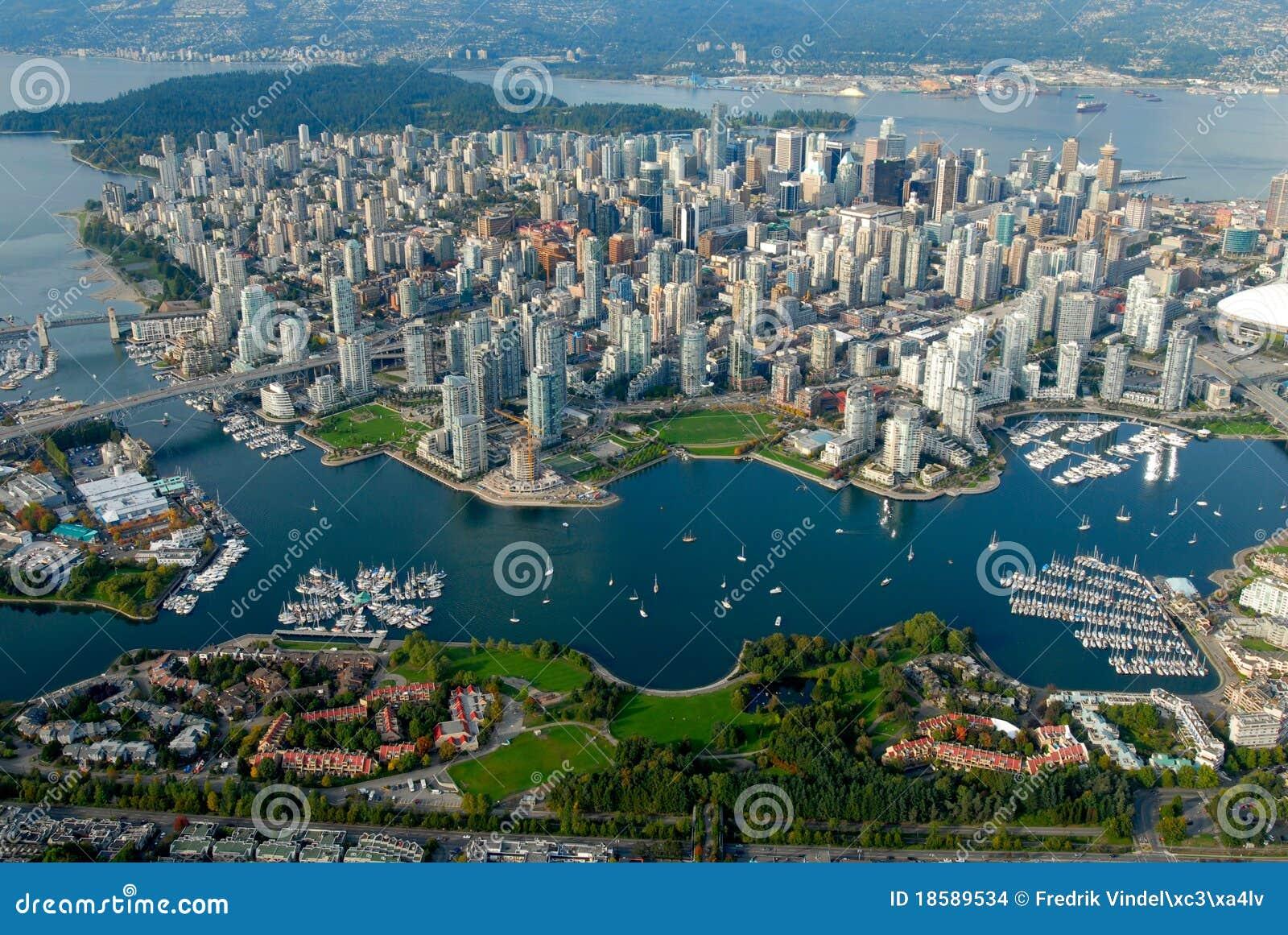 Vancouver vom Himmel