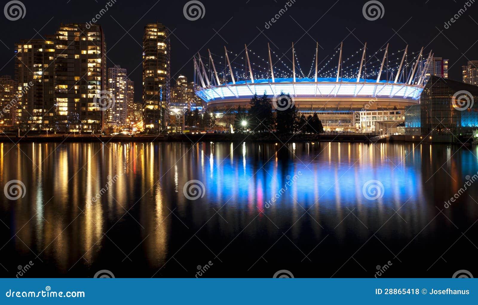 Vancouver w nocy