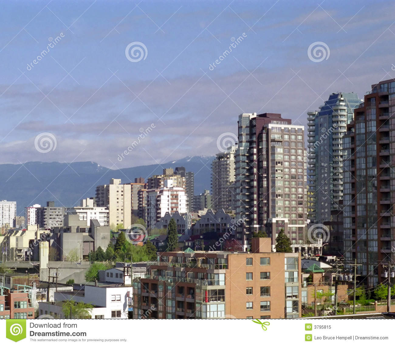 West End Vancouver: Vancouver West End BC Canada Royalty Free Stock Photo