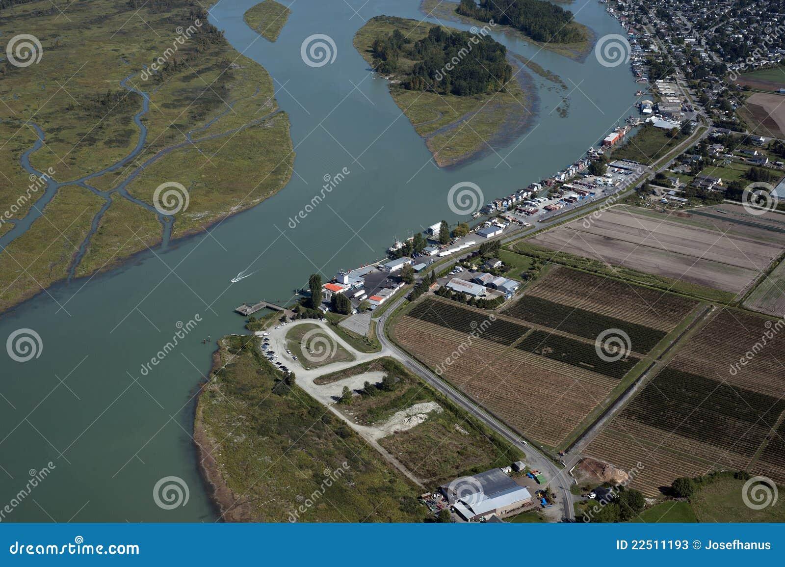 Vancouver - zones et fermes aériens de Richmond