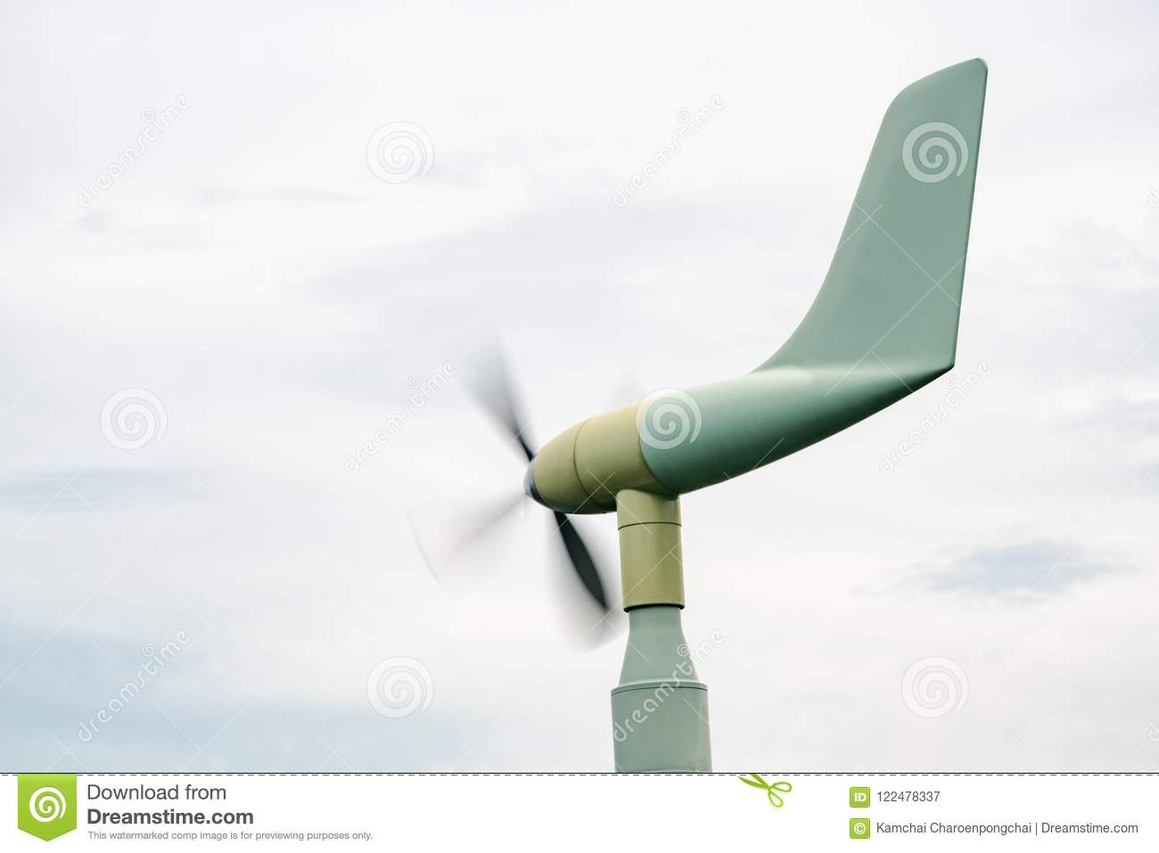 A Vane Style Anemometer Use For Measure Real Time Wind Speed