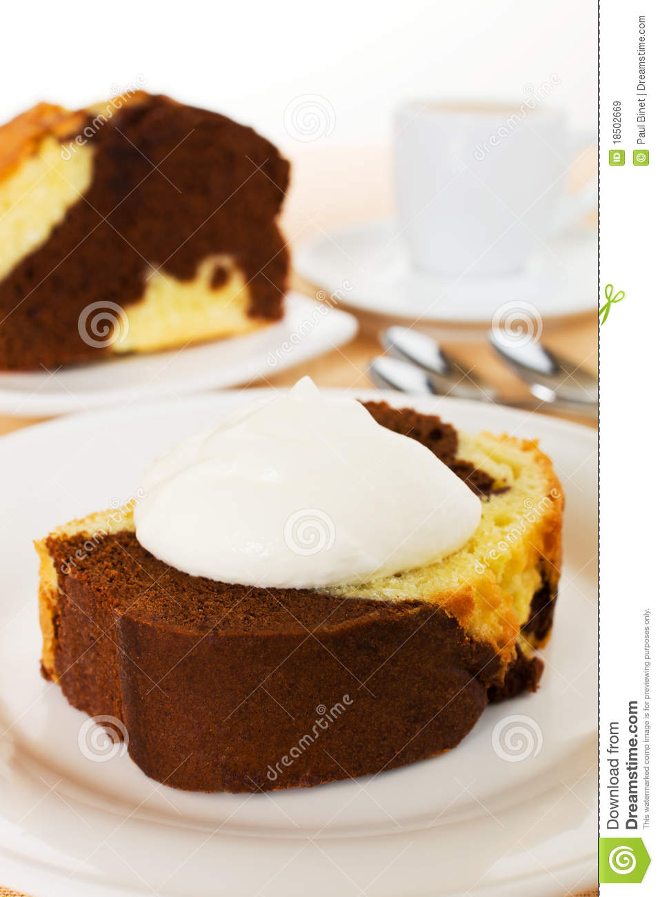 Vanilla And Chocolate Marble Cake Royalty Free Stock
