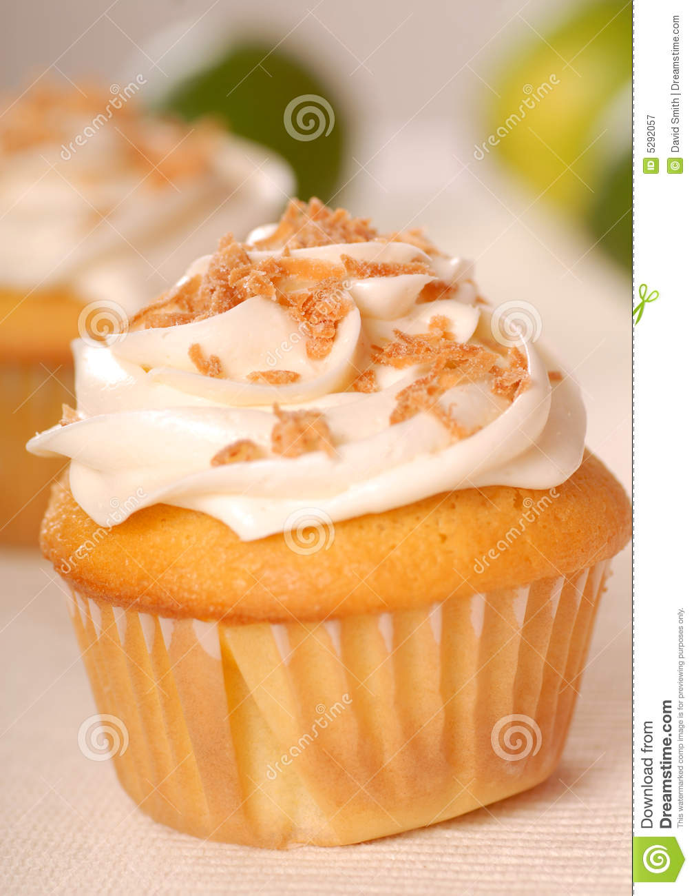 Vanilla Cupcake With A Lemon Buttercream Frosting Royalty-Free Stock Photo | CartoonDealer.com ...
