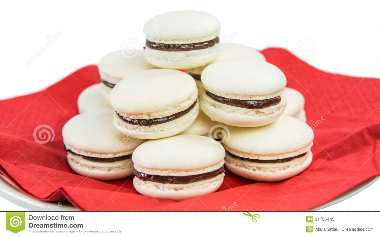 Vanilla Flavored French Macarons I Royalty Free Stock Photo - Image ...