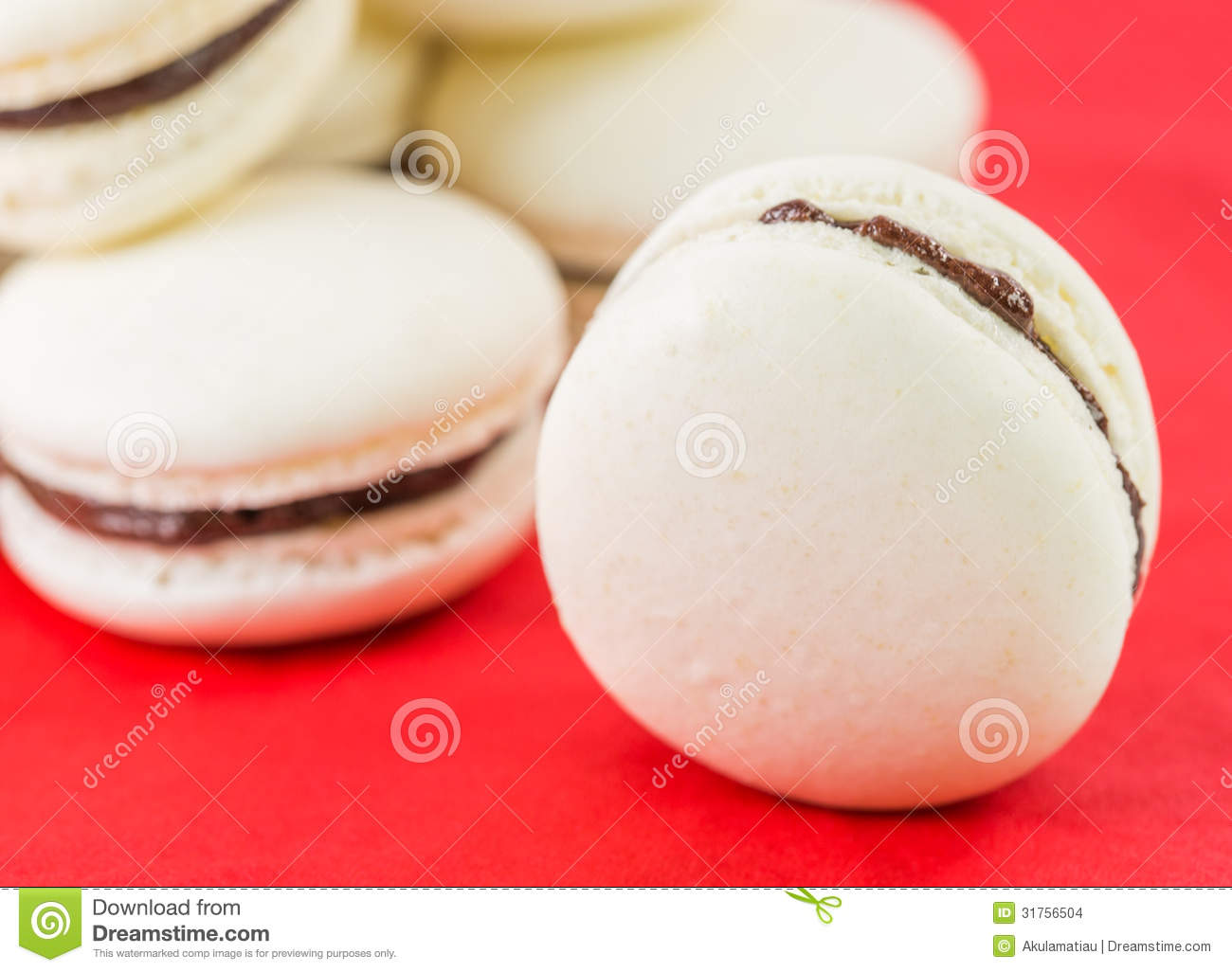 Vanilla Flavored French Macarons II Stock Images - Image: 31756504