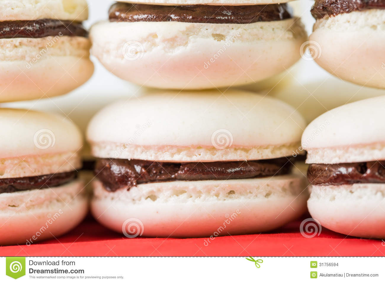 Vanilla Flavored French Macarons IV Stock Images - Image: 31756594