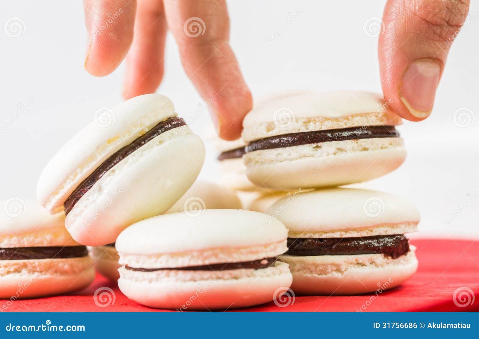 Vanilla Flavored French Macarons V Royalty Free Stock Image - Image ...