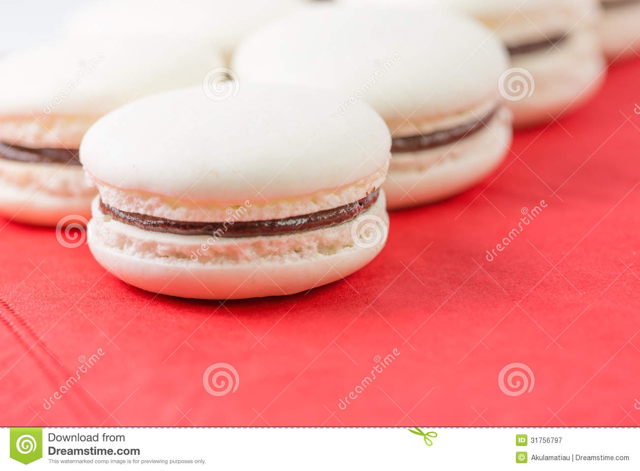 Vanilla Flavored French Macarons VII Royalty Free Stock Photography ...