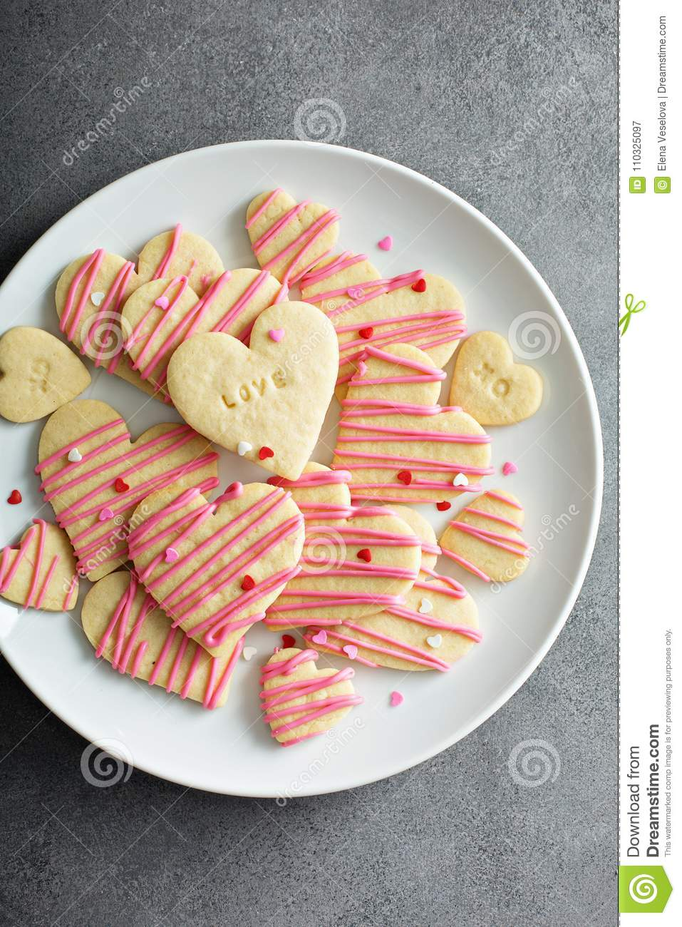 Vanilla Sugar Cut Out Cookies Stock Image Image Of Romance Happy