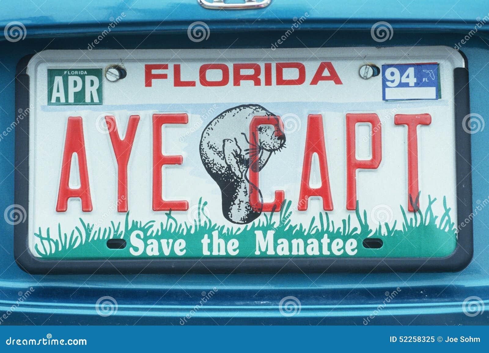Vanity License Plate Florida Editorial Image Image Of Motor Plate 52258325