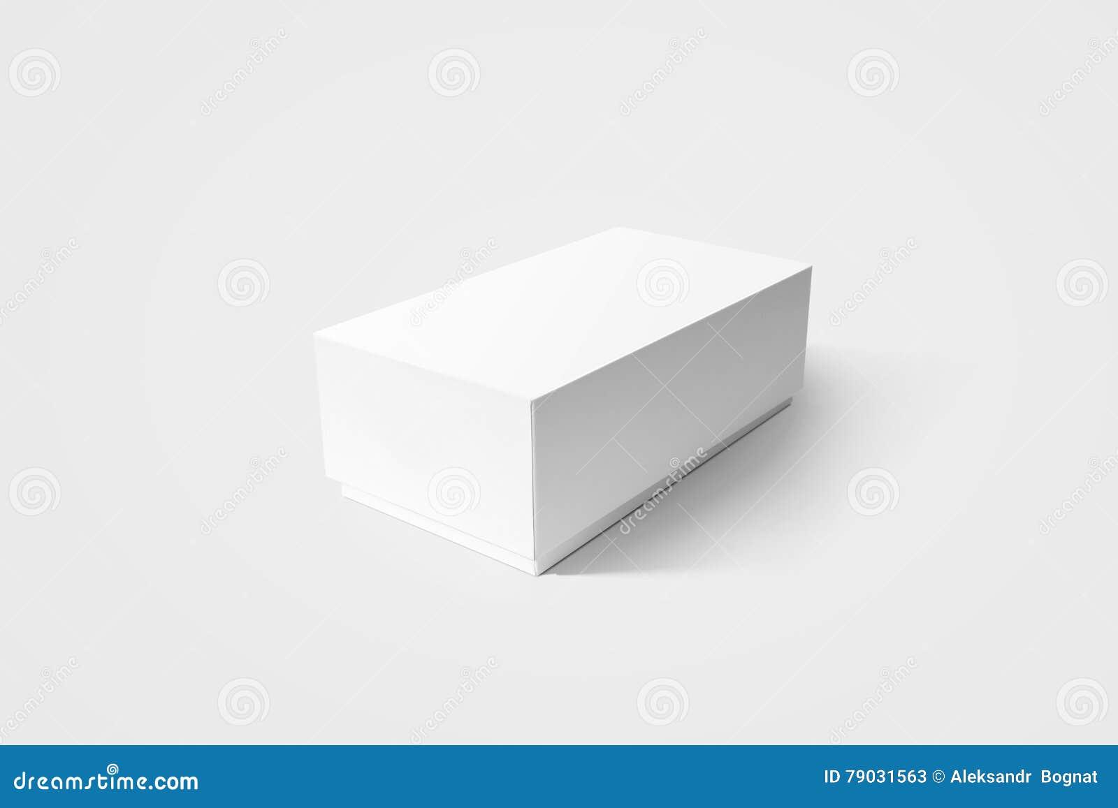 Vanlig vit modell för lådaproduktask, sidosikt, snabb bana