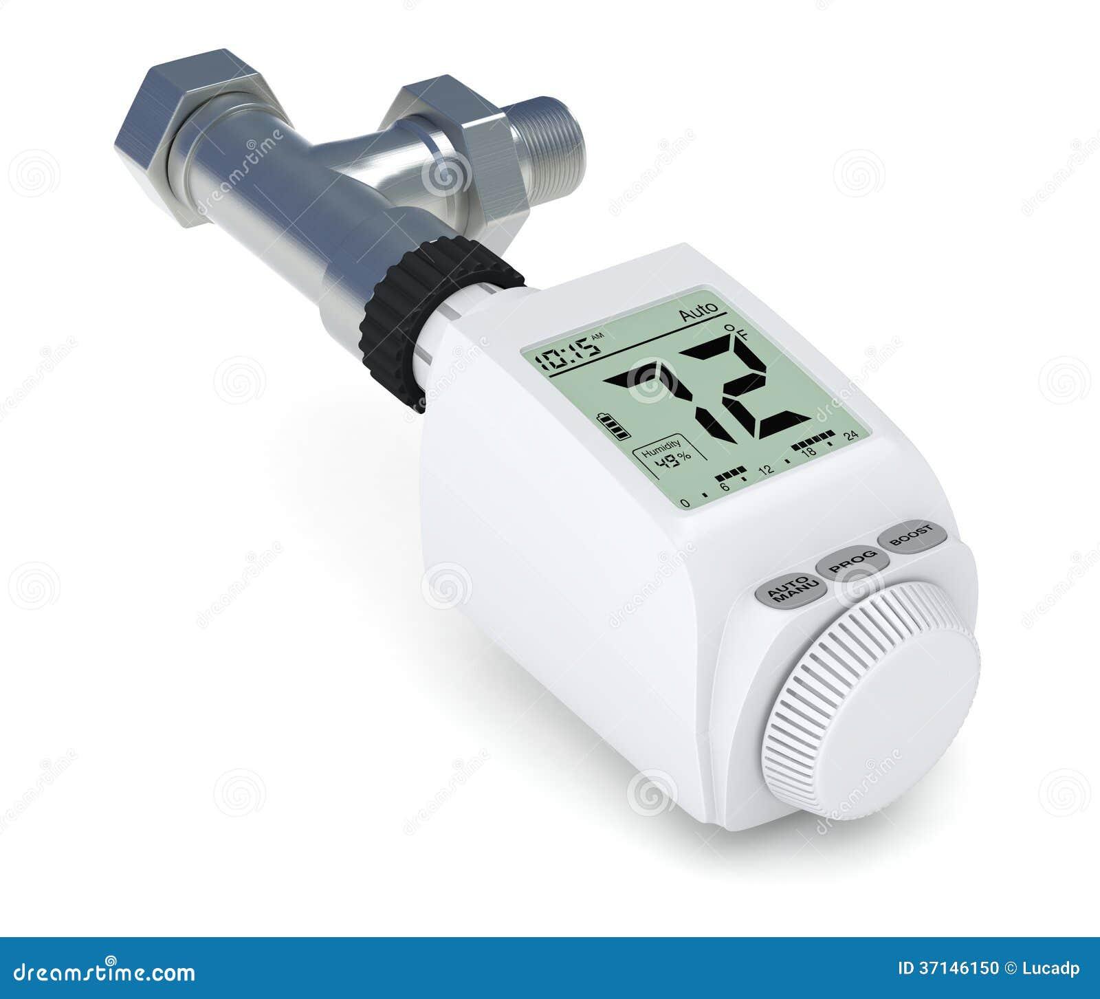 Vanne thermostatique de radiateur de digital illustration stock image 37146150 - Vanne thermostatique radiateur ...