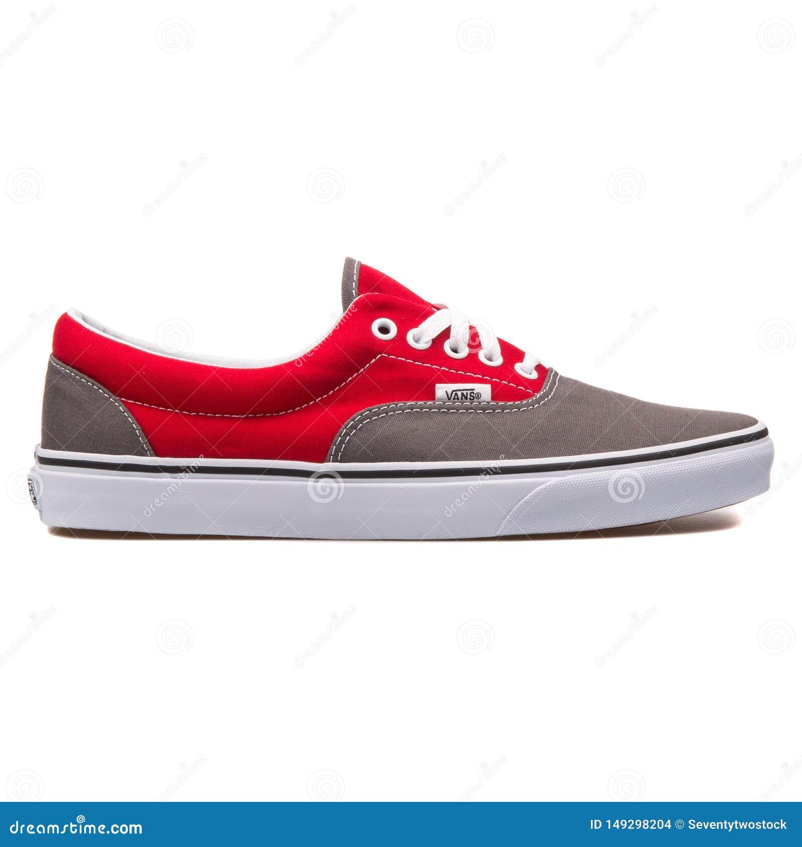 Vans Era Red And Grey Sneaker Editorial