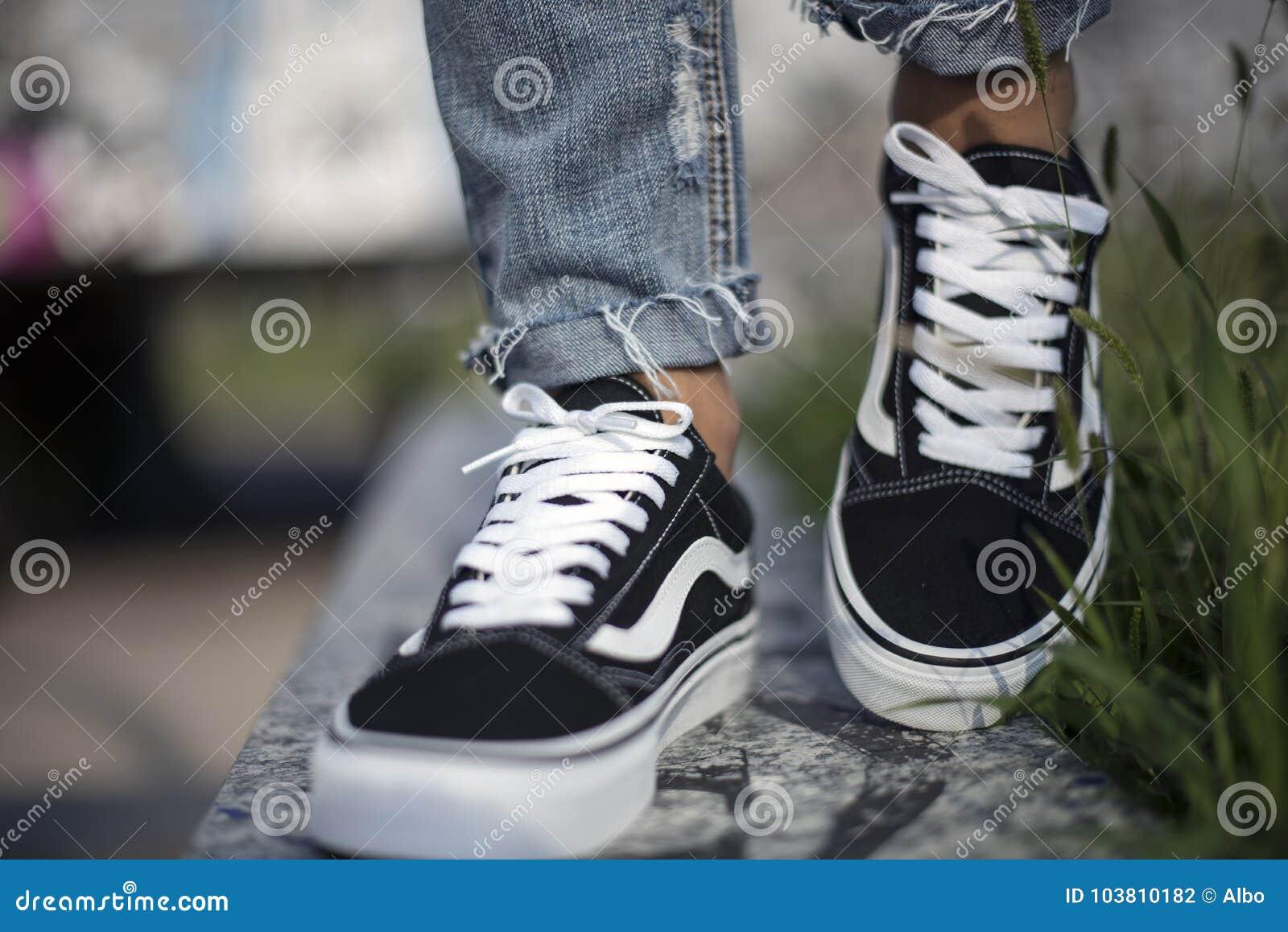 0d9ba6bd19a Milan, Italy - September 28, 2017: Vans Old Skool shoes in the street -  illustrative editorial