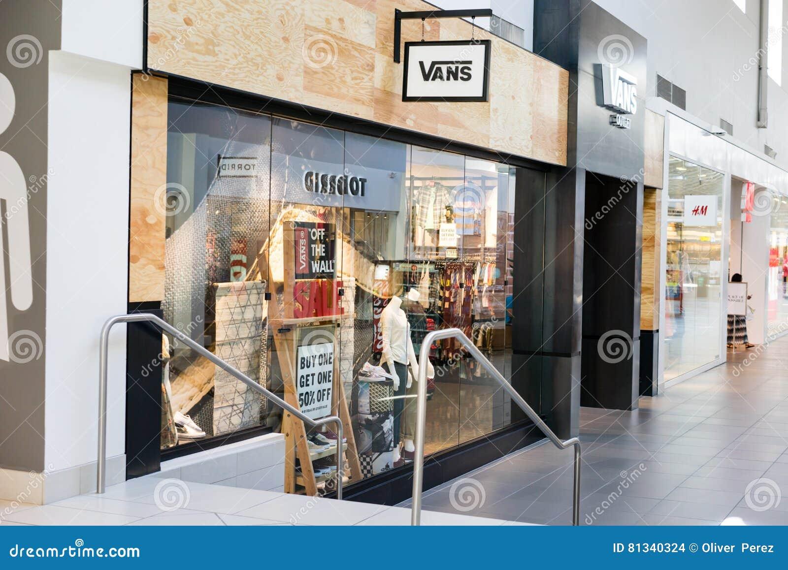Vans shoe store editorial stock image