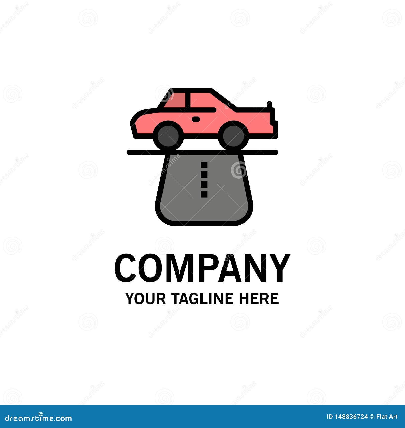 Vantaggio, autorità, automobile, tappeto, affare Logo Template di comodità colore piano