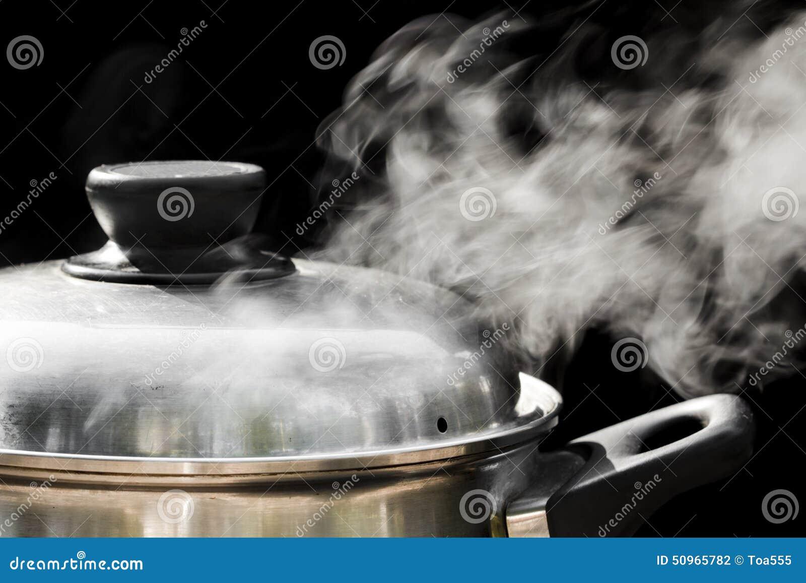 Vapeur au-dessus de faire cuire le pot