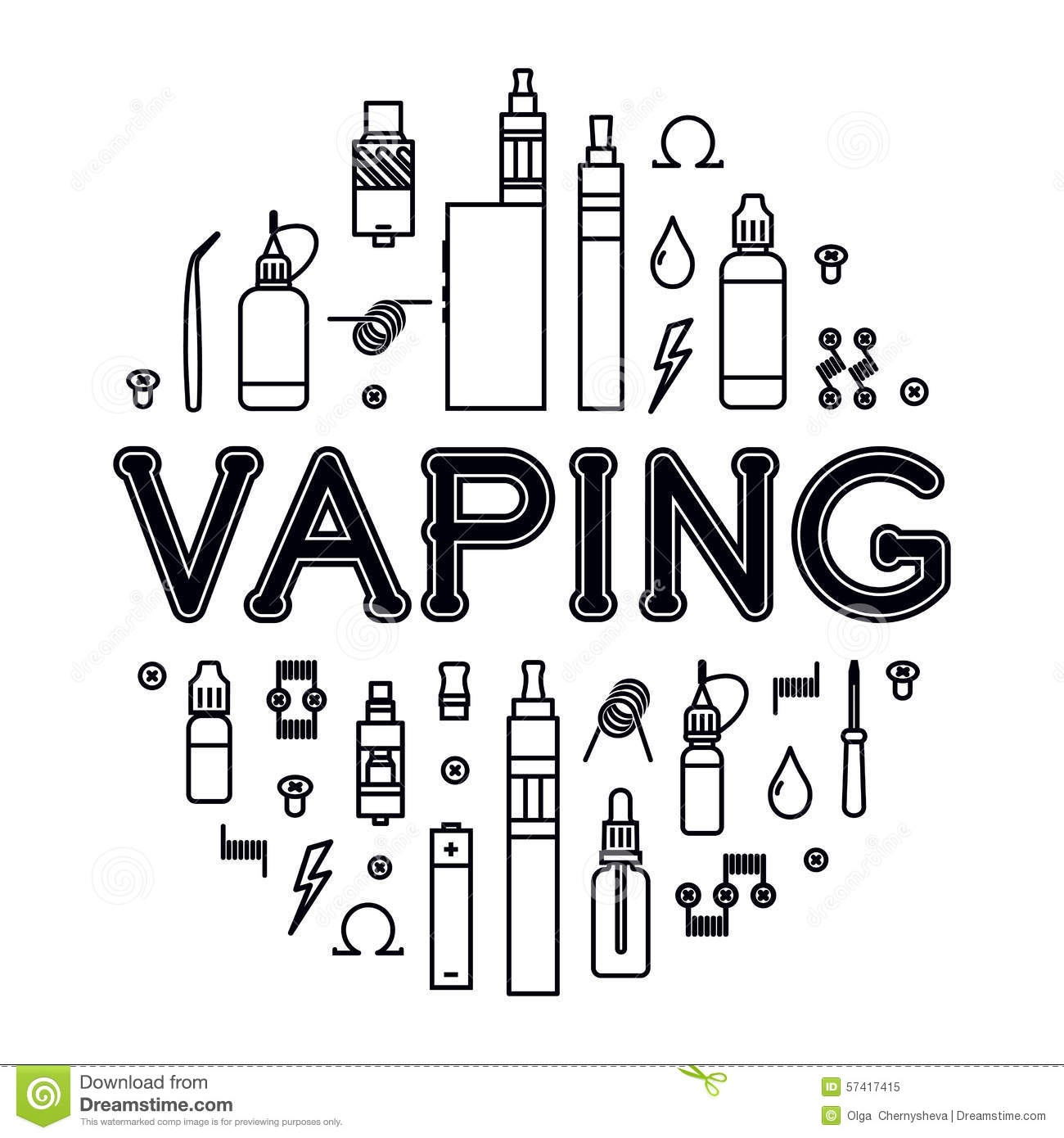 Stock Illustration Vaping Icons Set Vector Illustration Vaporizer Accessories Vape Isolated White Background Image57417415 additionally Electricity basics additionally 1738966 moreover Ui  iec grs 60417 5140 in addition Power Supply For A Fluorescent L  12v. on all electrical symbols