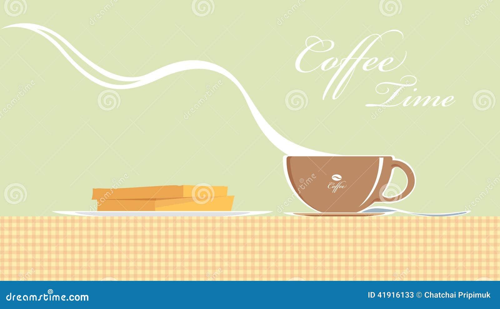 Vapor del café del vector