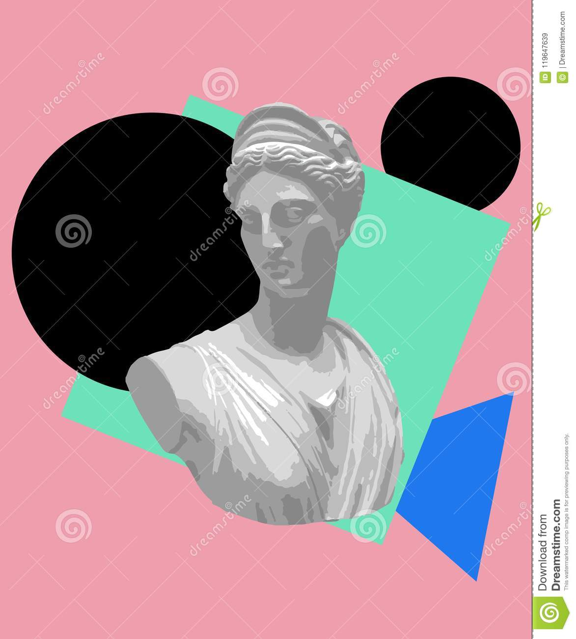Vaporwave Aesthetic T Shirt Illustration Vector Graphic For T Shirt Printing And Clothing Aesthetic Wallpaper Stock Vector Illustration Of Sewing Fabric 119647639