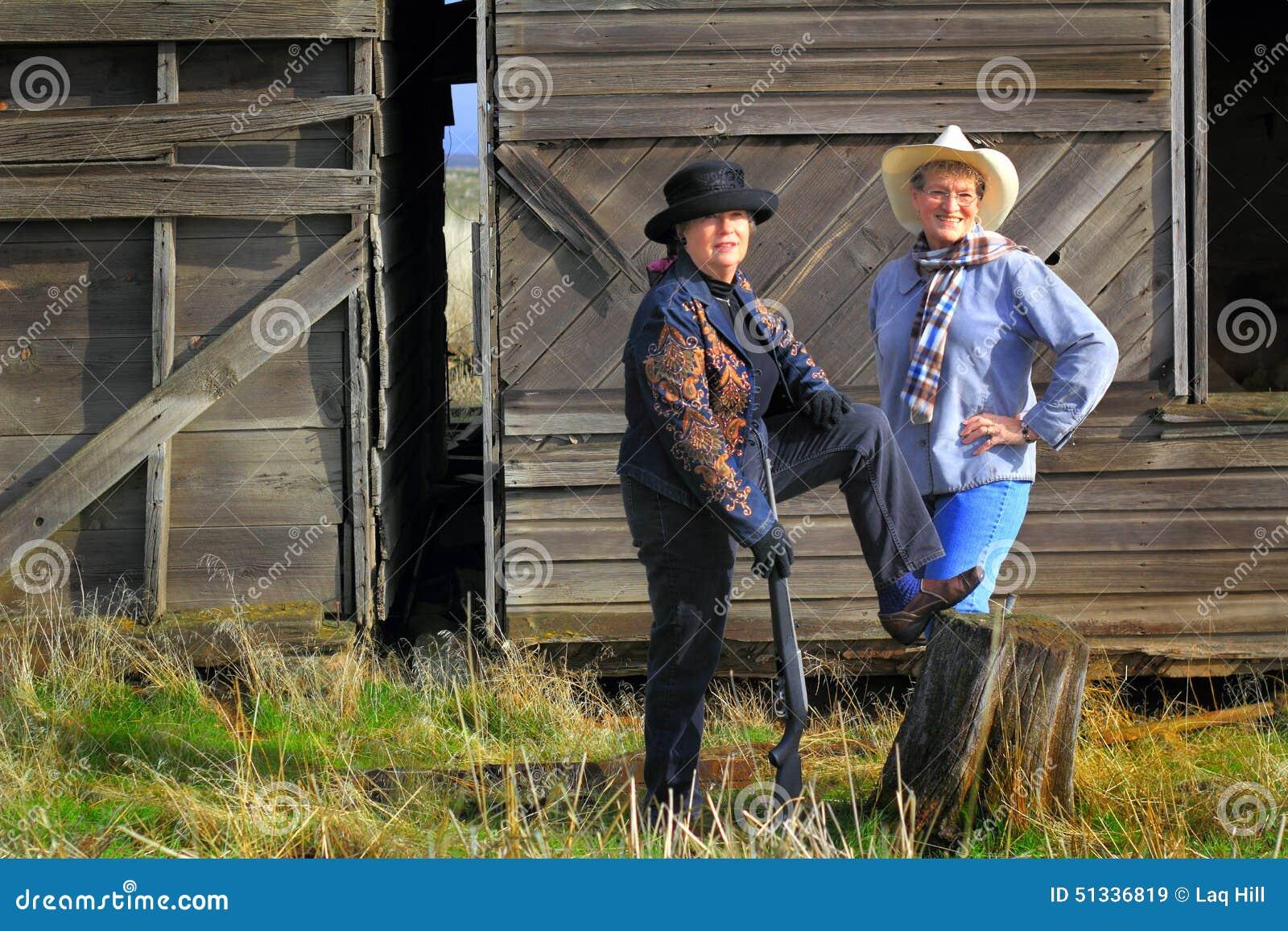 Vaqueiras do Gunslinger do país
