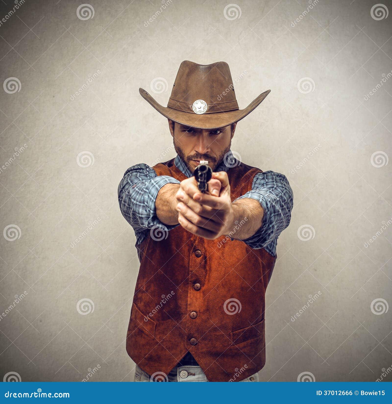Vaqueiro com uma arma