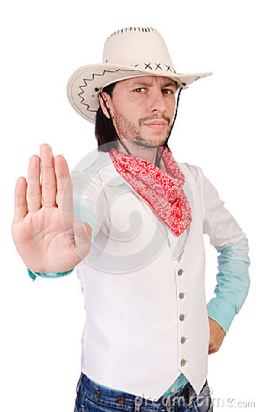 Vaquero aislado
