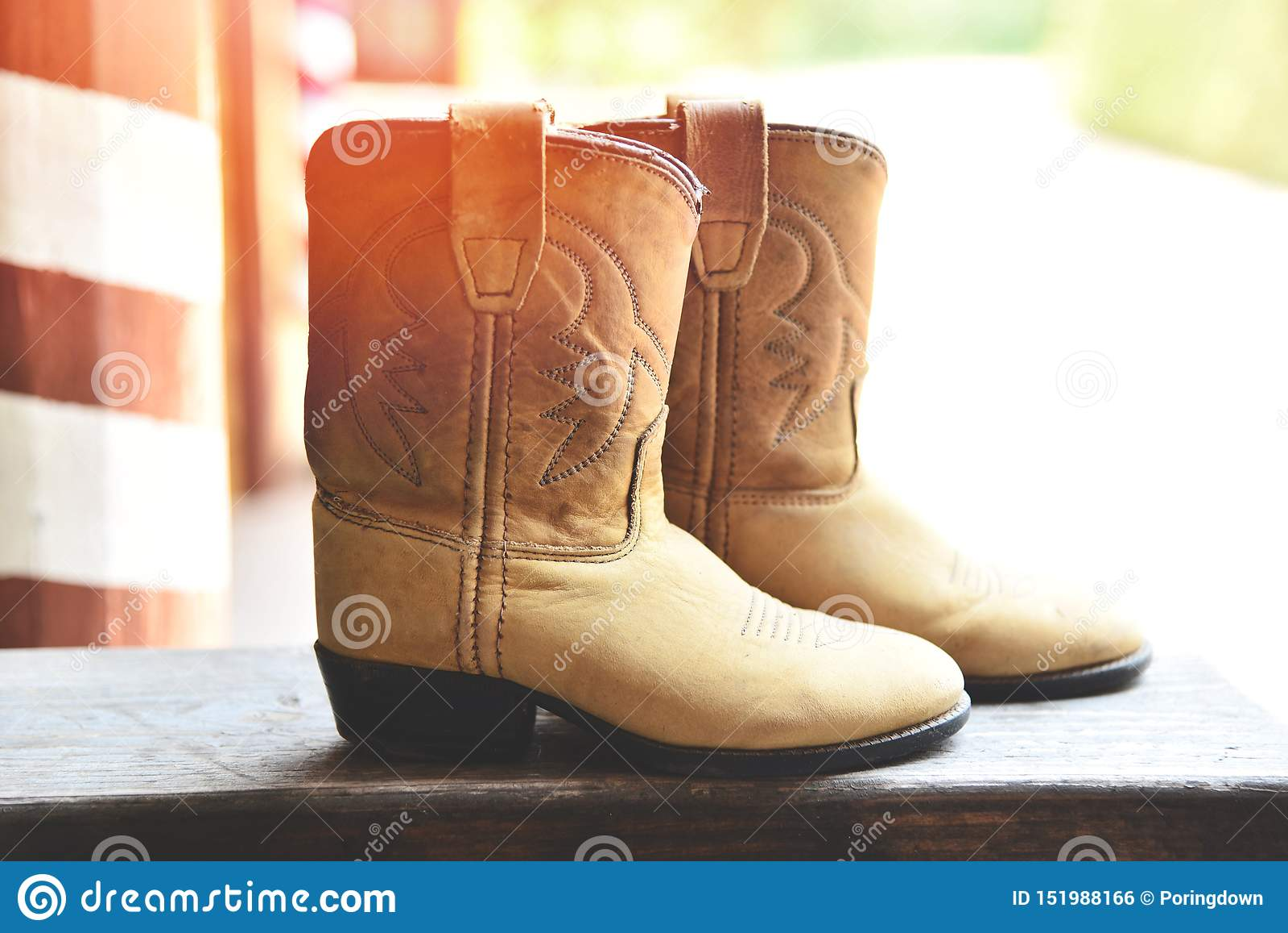 Vaquero Boots - par retro del rodeo del vaquero del oeste salvaje americano del estilo de cuero tradicional del cordelero occiden