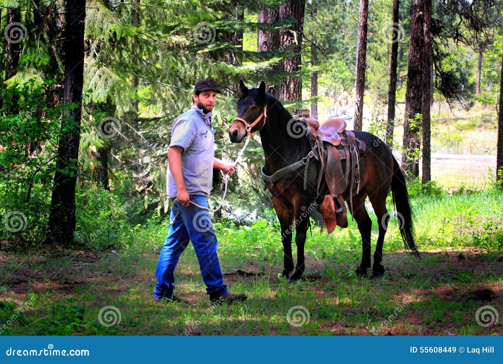 Vaquero y caballo