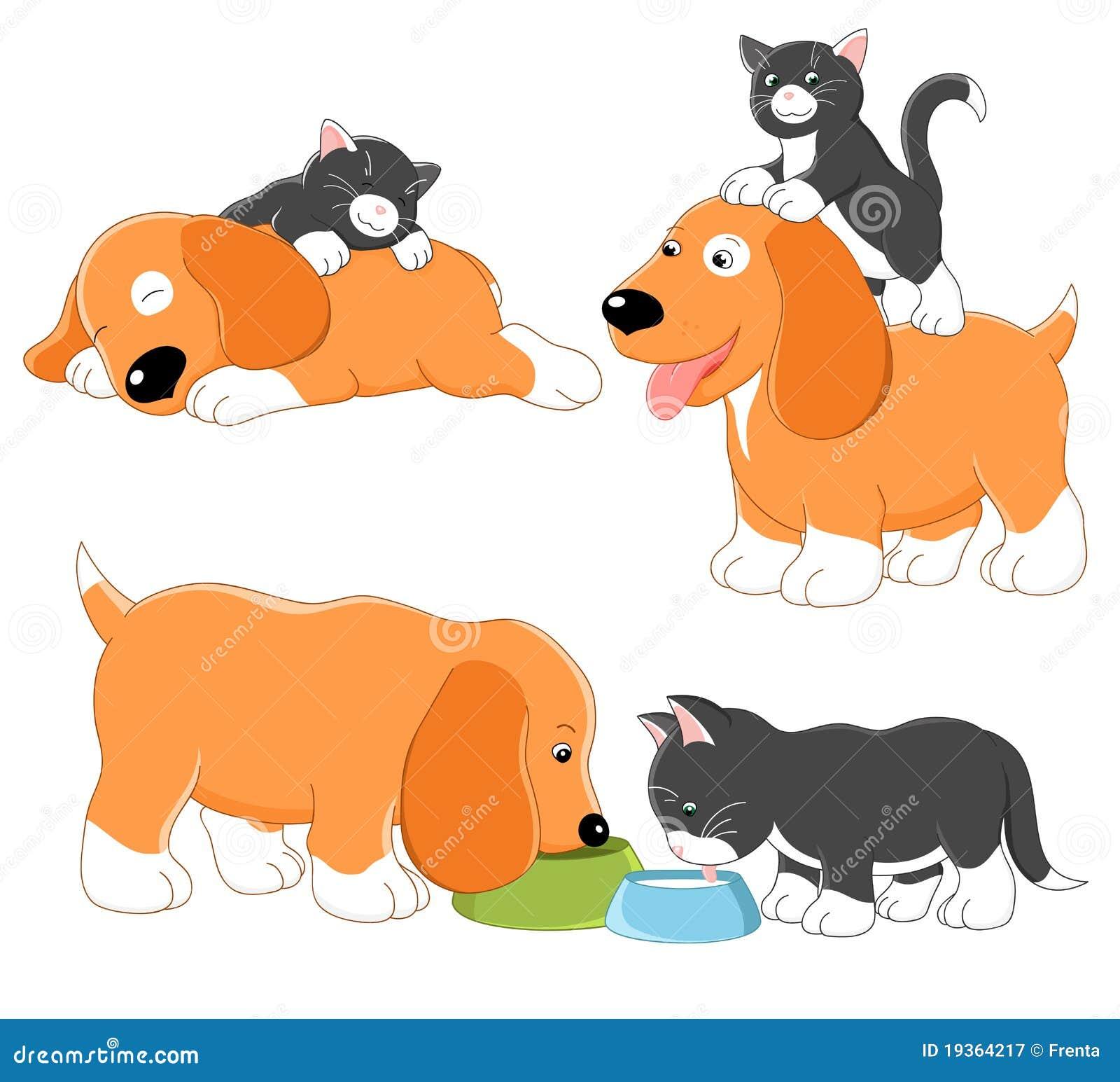 Vaquinha e filhote de cachorro