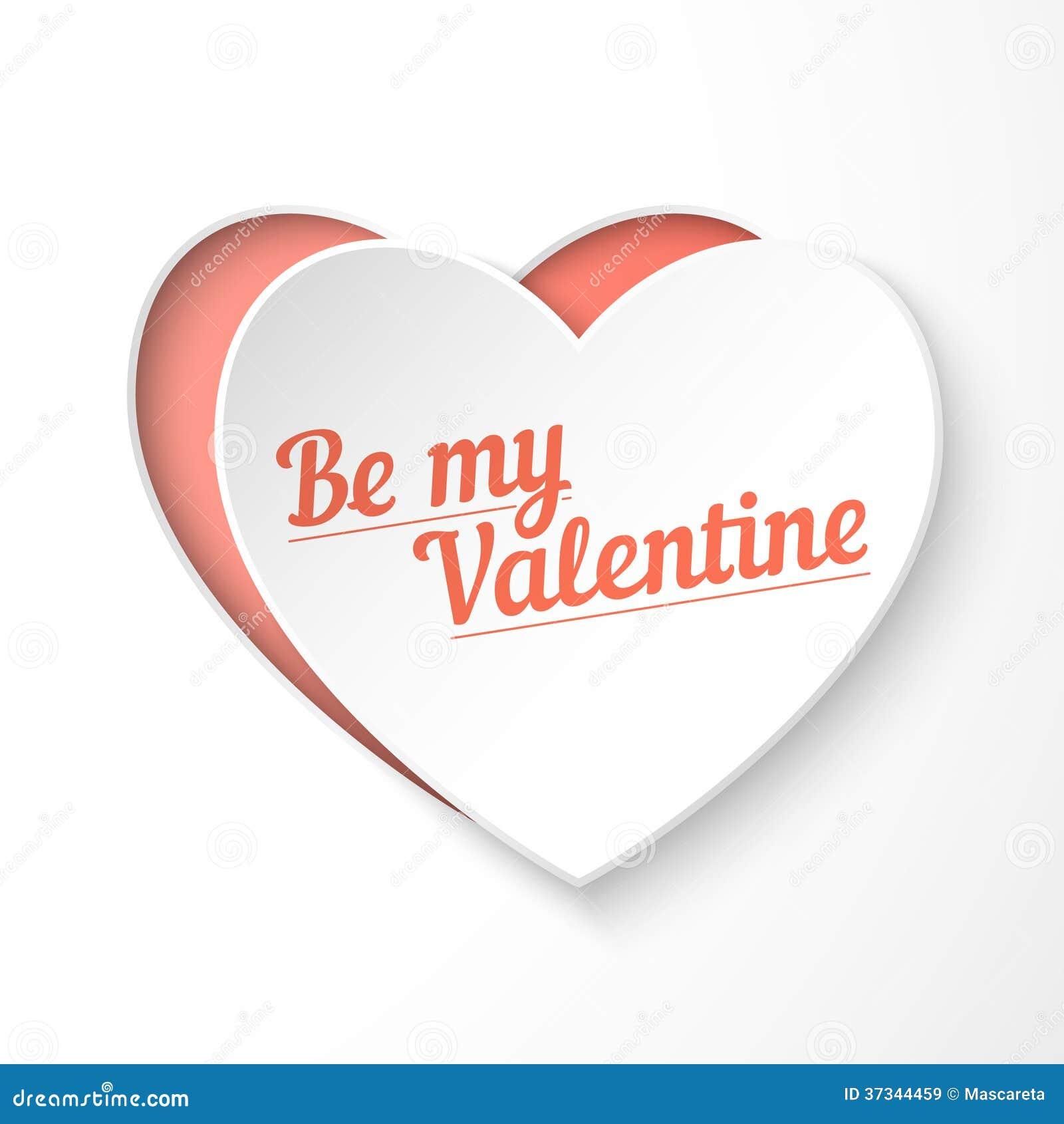Var mitt kort för ferie för hjärta för valentinpapper 3d