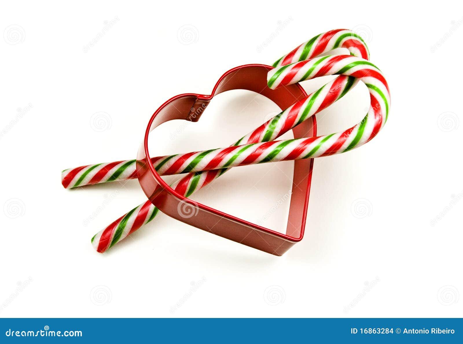 Vara do bastão de doces no amor