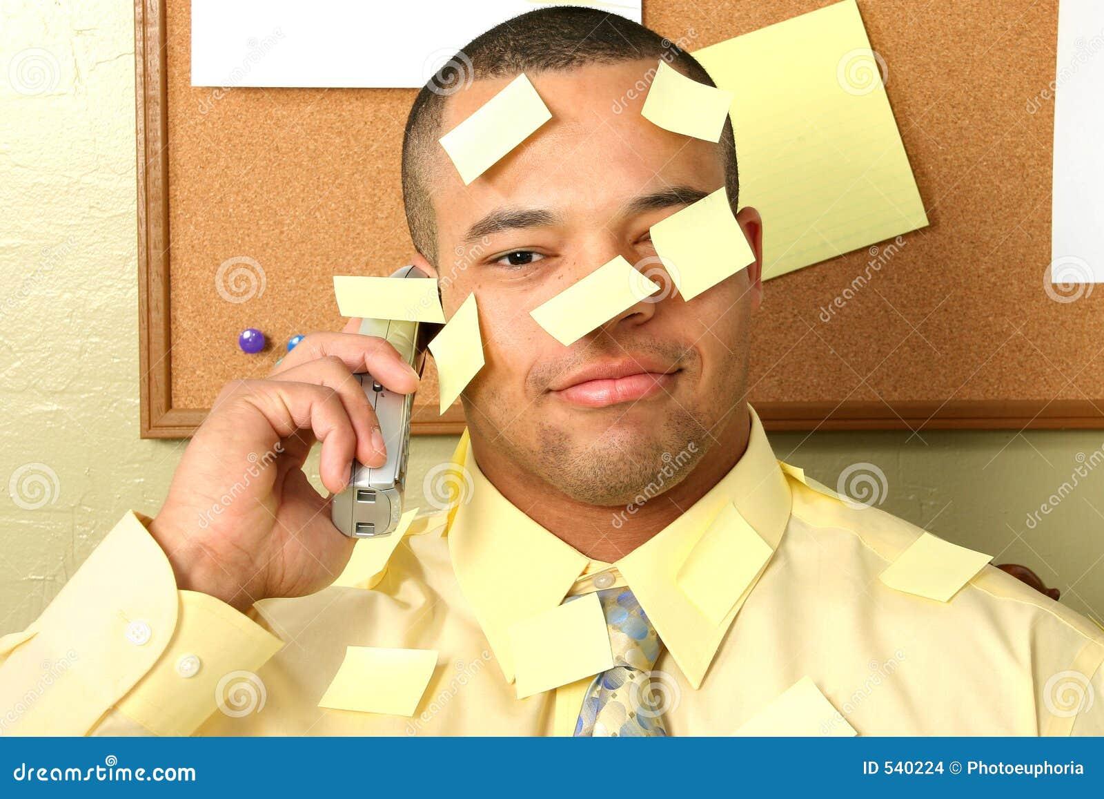 Vara do homem de negócio em notas
