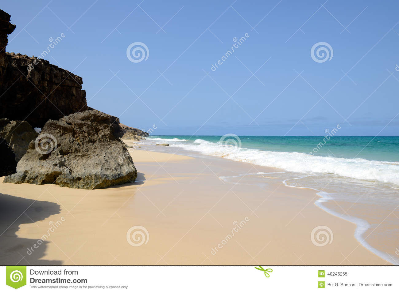 Varandinha Beach In Boa Vista, Cape Verde Stock Photo - Image ...