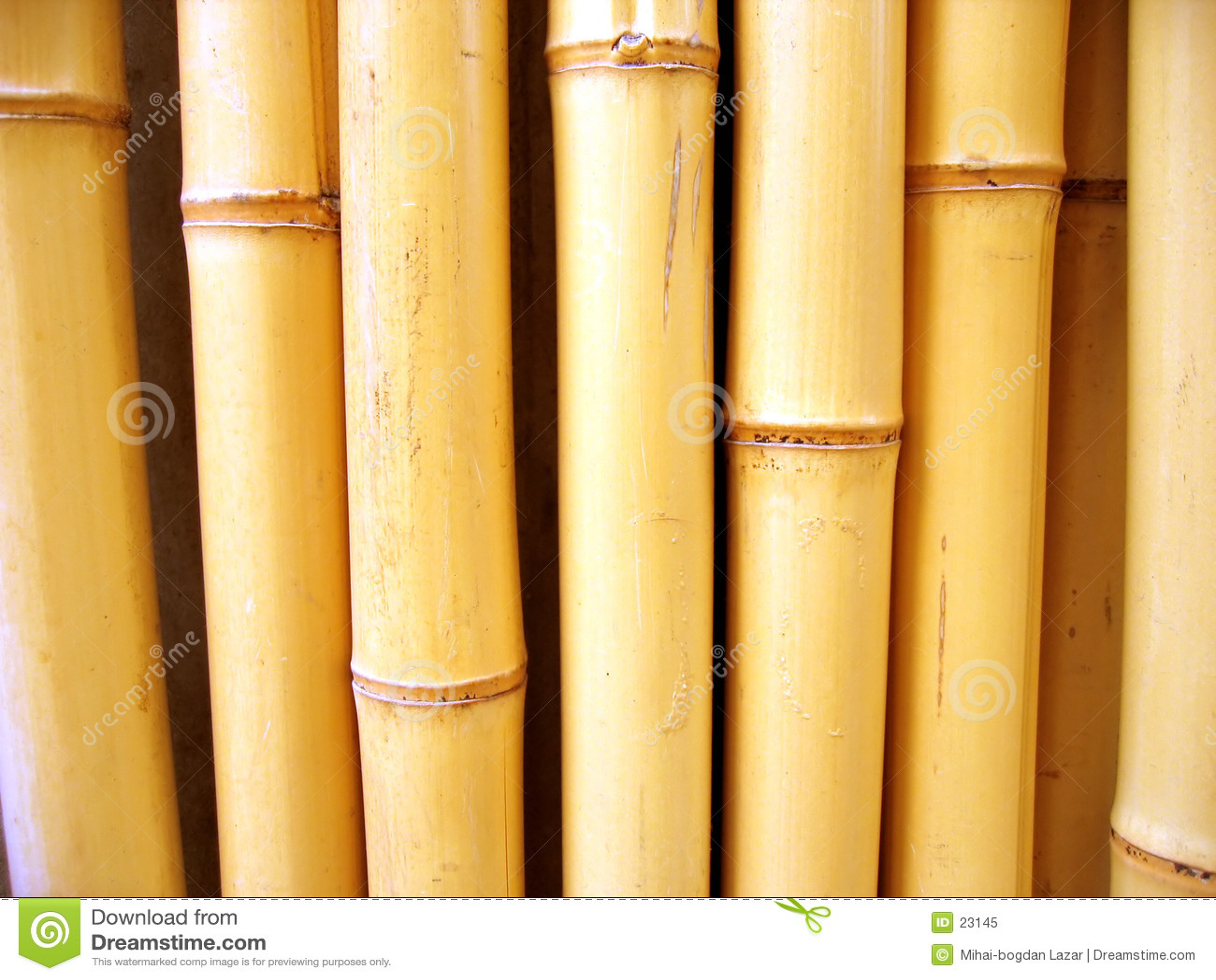 Varas de bambu