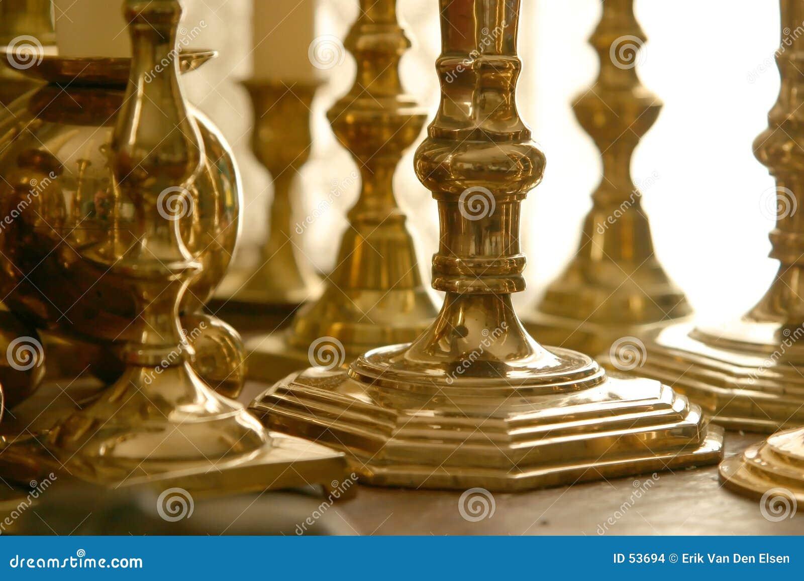 Varas de bronze da vela