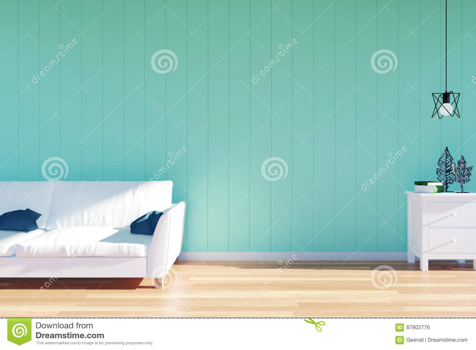Vardagsruminre - soffa- och gräsplanväggpanel för vitt läder med utrymme