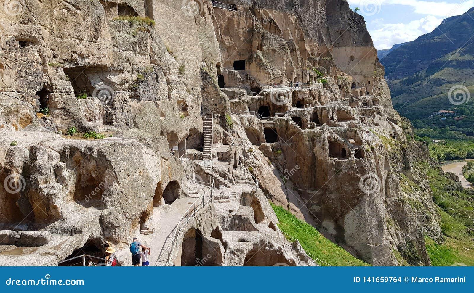 Vardzia jest jama monasteru miejscem w Gruzja