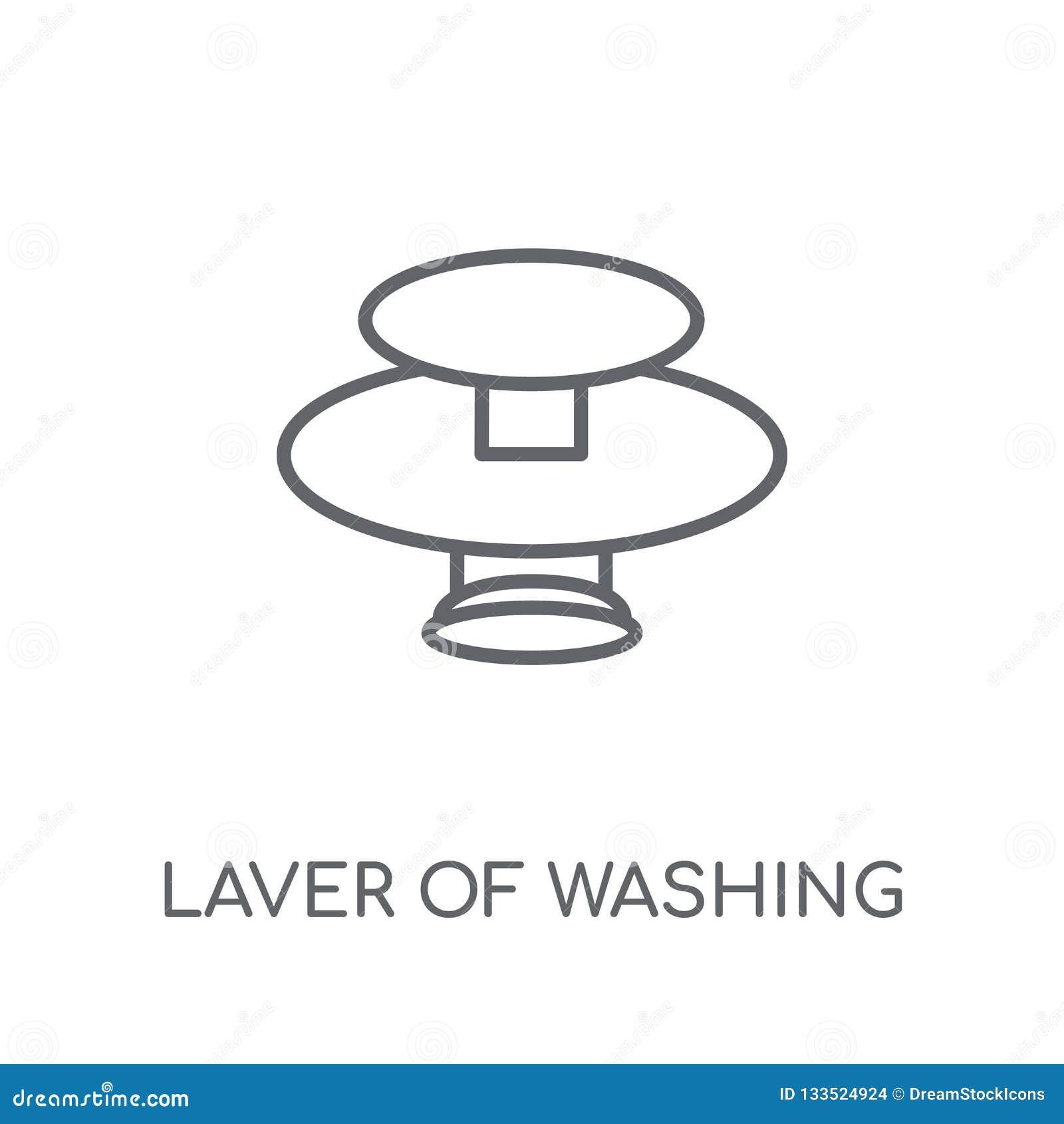 Varec de lavar el icono linear Varec moderno del esquema del lo que se lava