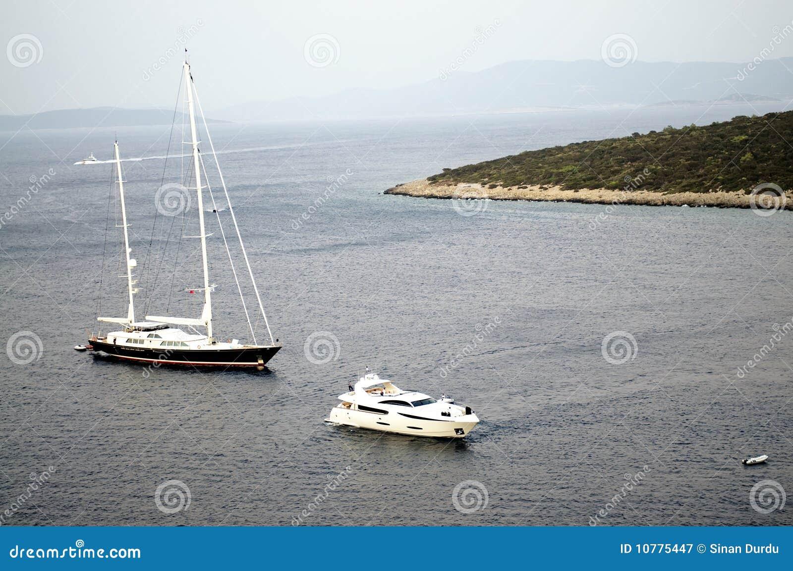 Varende boot in Bodrum