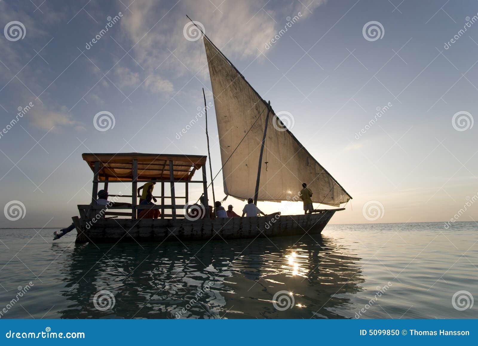 Varende boot in Zanzibar Afrika