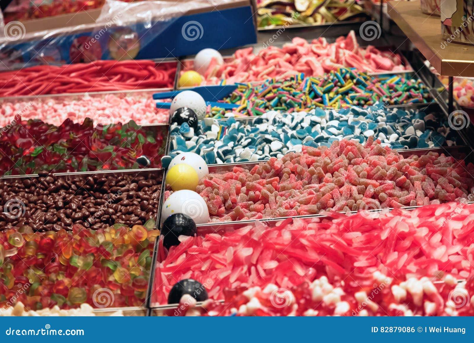 Variété de caoutchouteux et de Jelly Sweets
