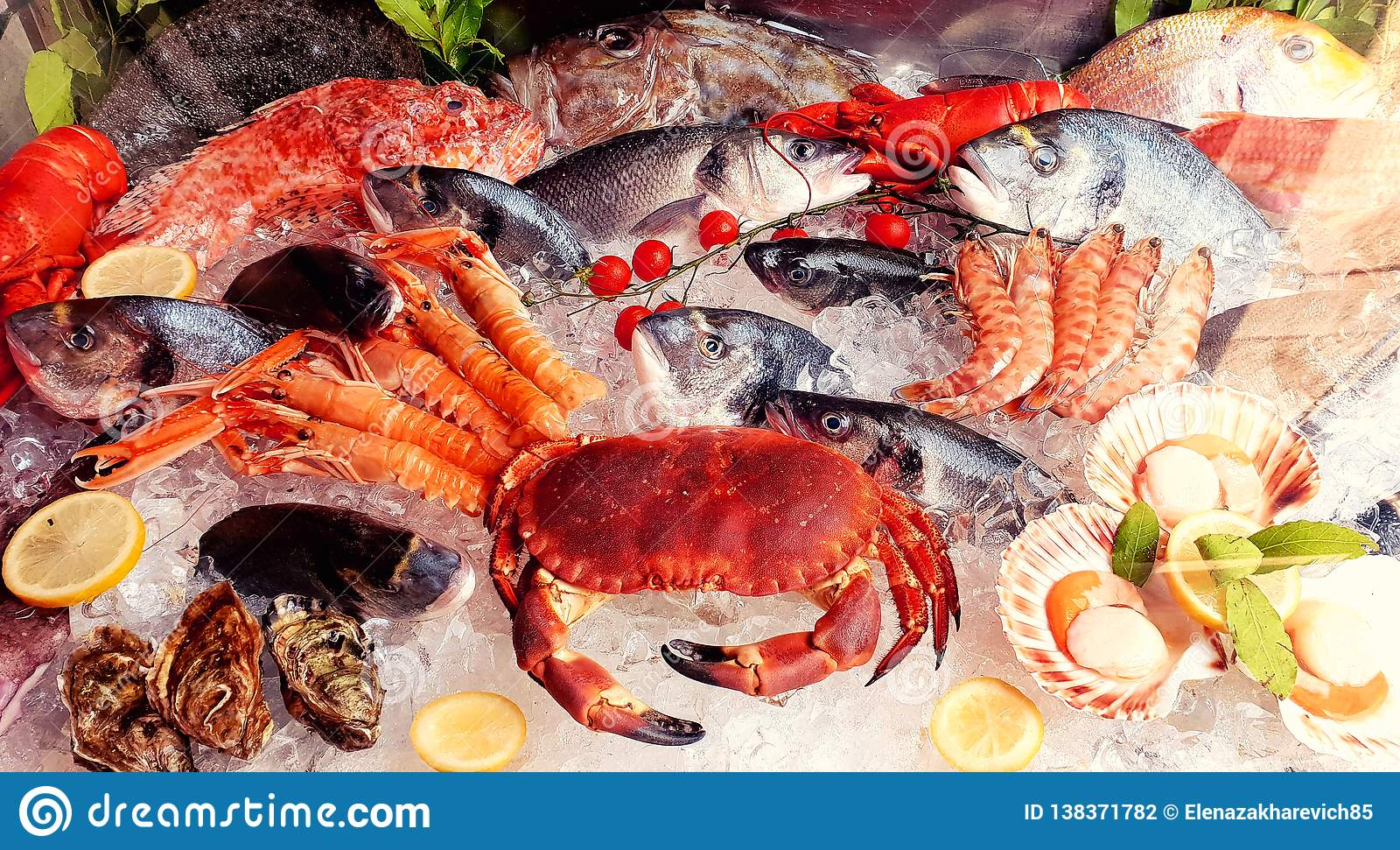 Variété de fruits de mer