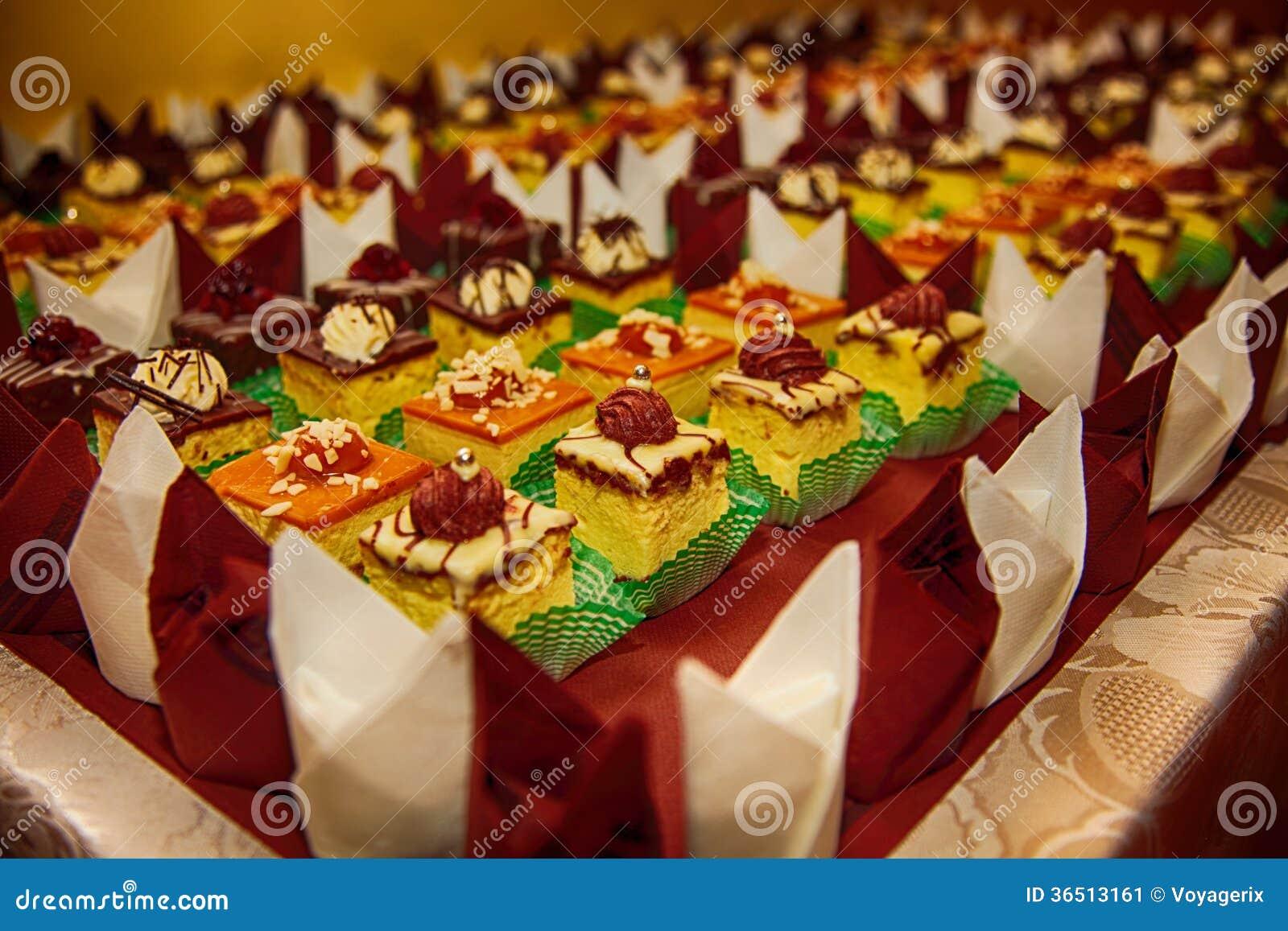 Variétés de bonbons de approvisionnement à desserts de gâteaux