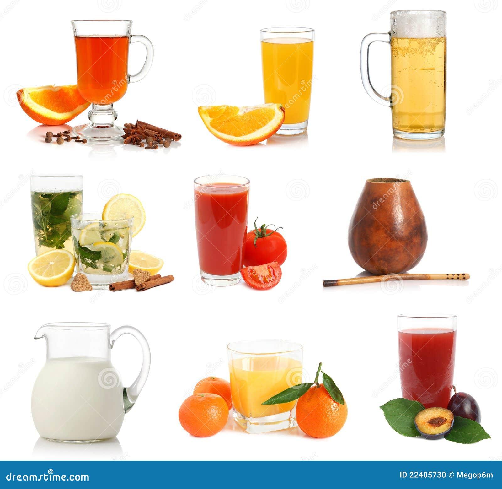 Vari bevande e campioni delle tazze