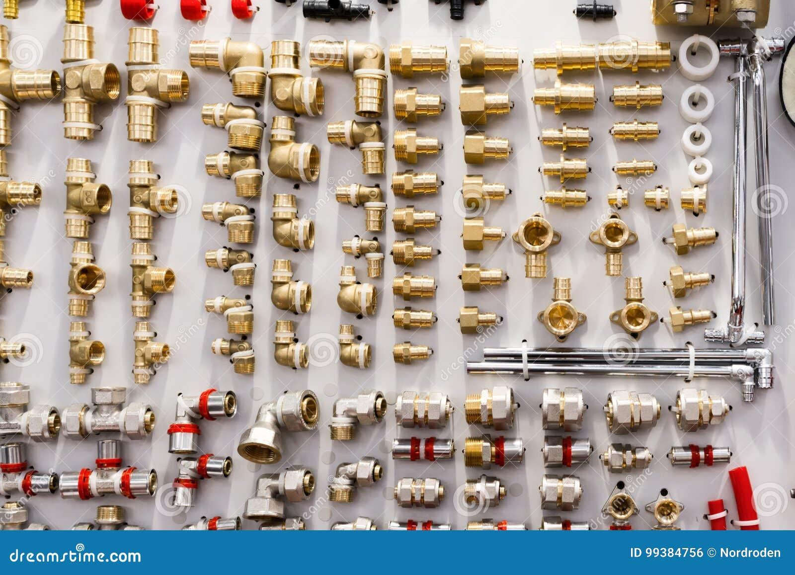 Vari connettori del tubo dell impianto idraulico, angoli, montaggi, capezzoli
