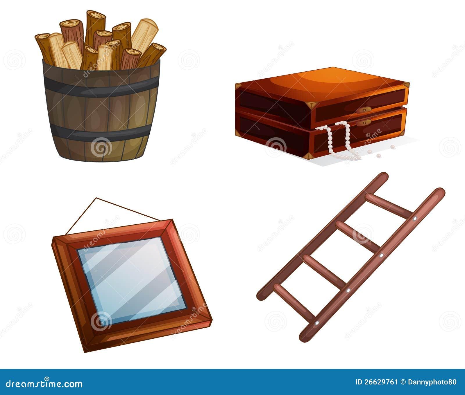 Vari Oggetti Di Legno Immagine Stock - Immagine: 26629761