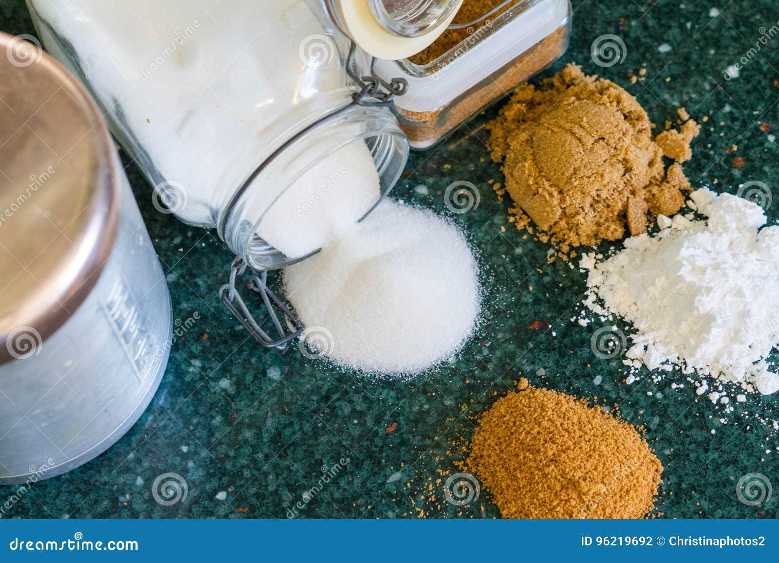 Vari tipi di zuccheri