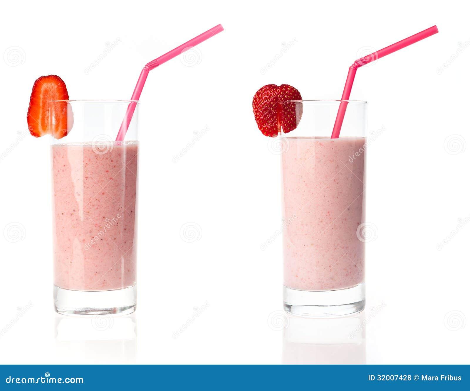 Variações do milk shake da morango