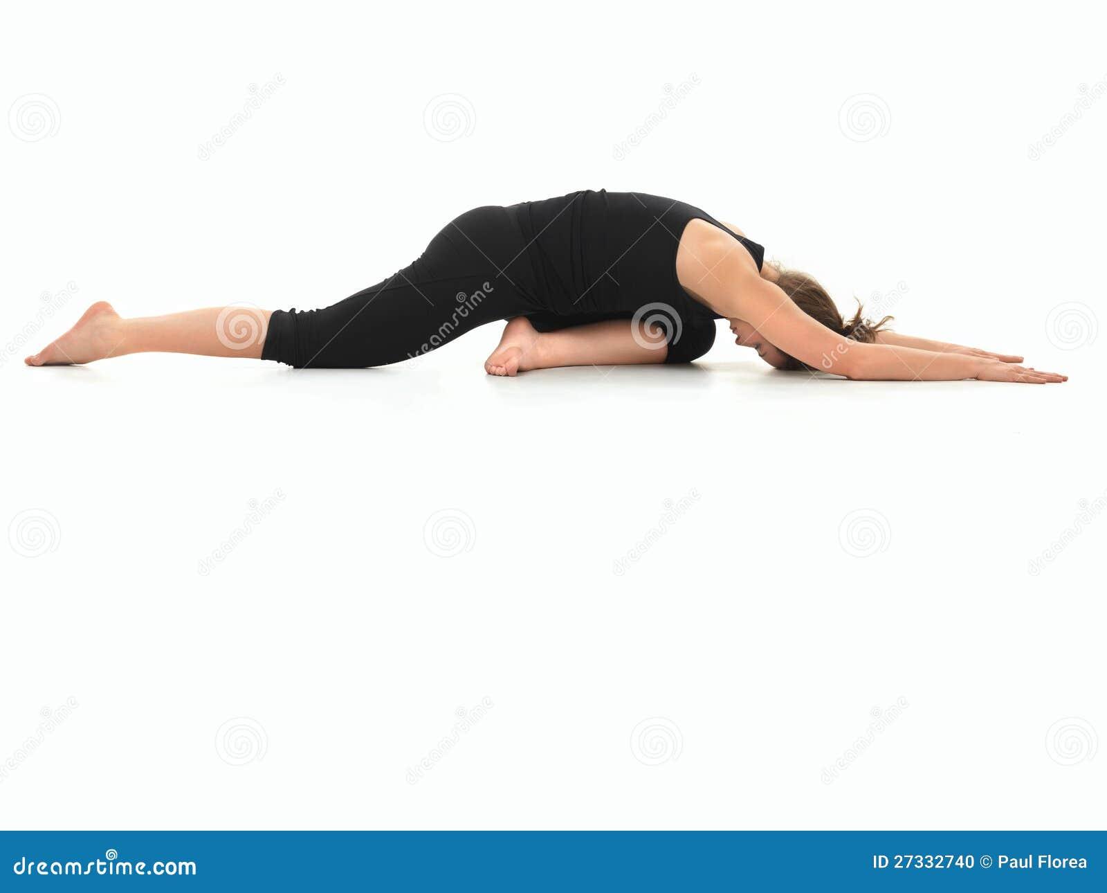 Variación avanzada de la práctica de la yoga